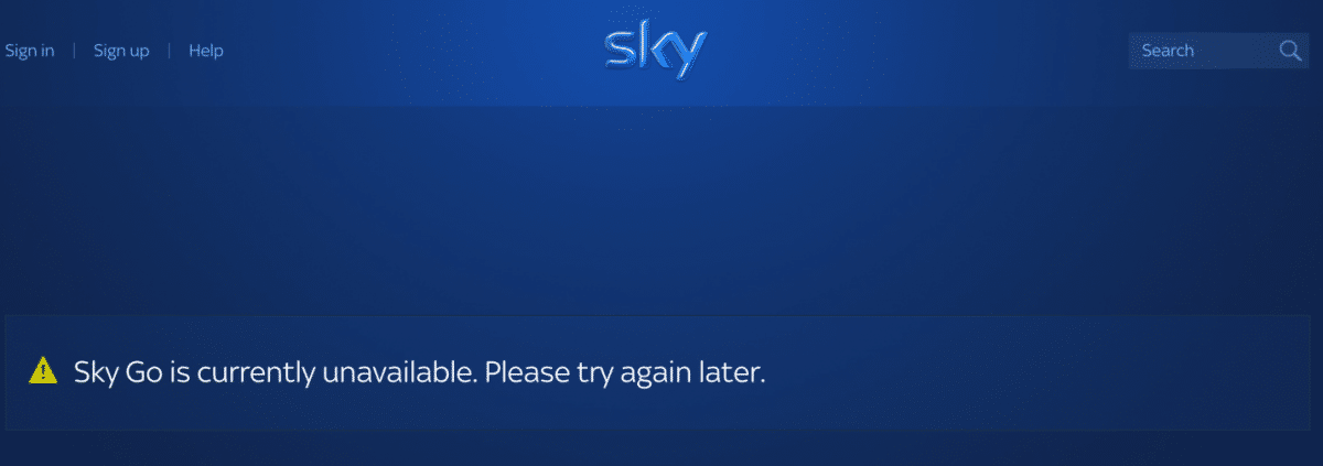 watch sky go outside of the UK