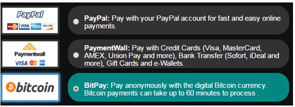 BlackVPN payment