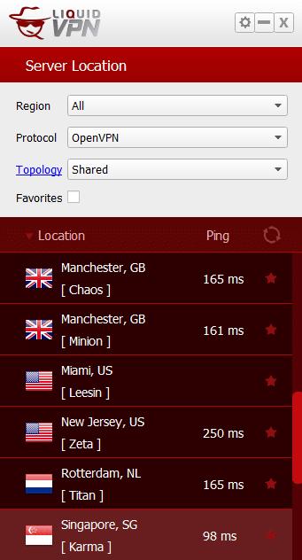 LiquidVPN Servers