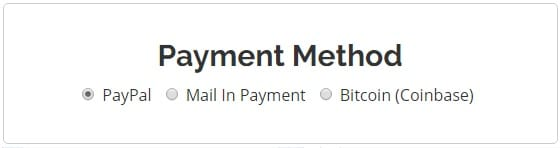 AceVPN Payment Methods