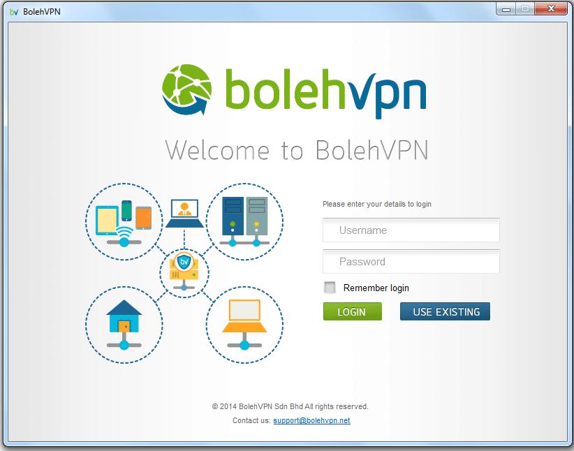 Boleh VPN Windows setup