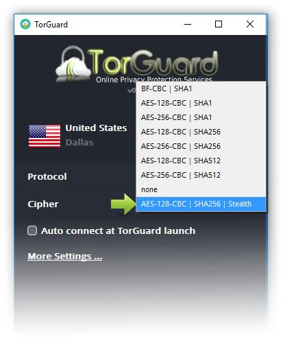 torguard stealth server