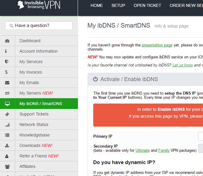 ibVPN Smart DNS