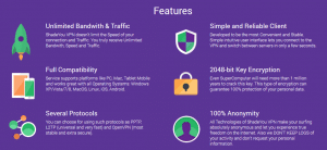 shadeyou vpn features