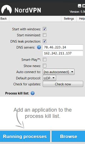 NordVPN client