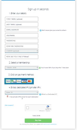 VPNArea subscribe