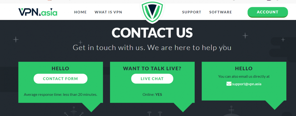vpn.asia customer support