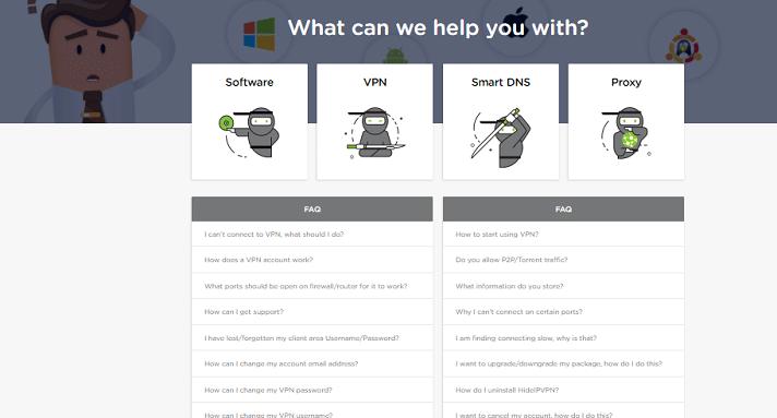 HideIPVPN FAQ page