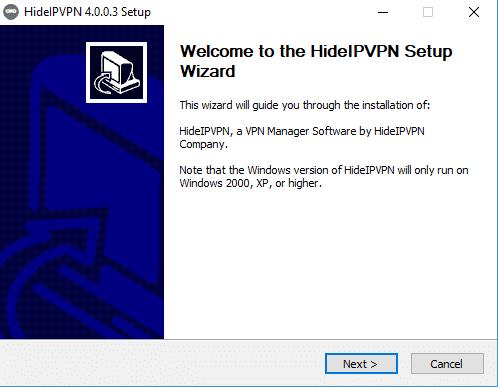 HideIPVPN installer