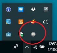 HideIPVP icon in the system tray