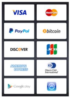 HideIPVPN payment methods