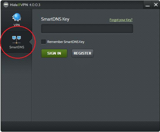 HideIPVPN smart DNS app