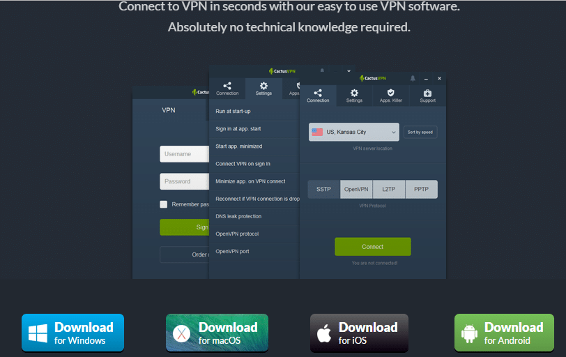 Cactus VPN Download