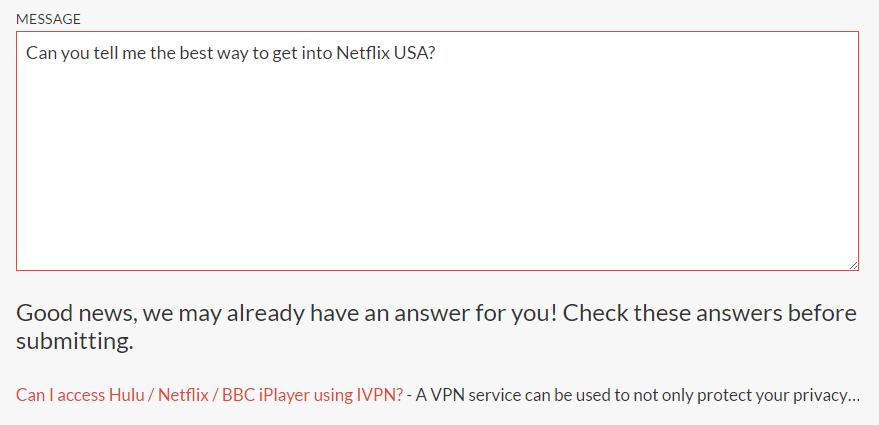 IVPN Customer Service