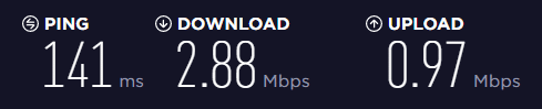 Mullvad VPN speed test