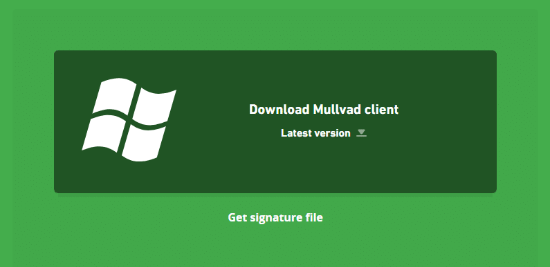 Mullvad VPN windows client