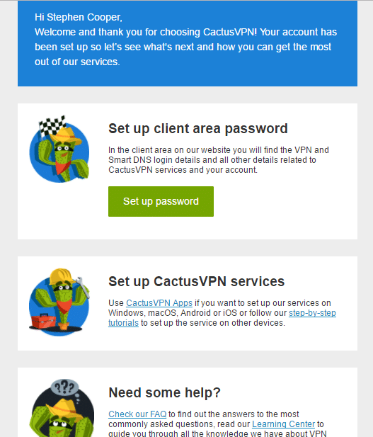 Cactus VPN Sign Up