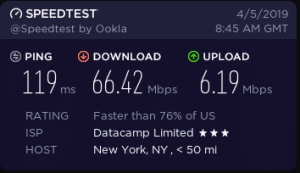 cyberghost vpn speeds in NewYork