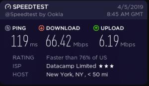 cyberghost vpn speeds in NewYork